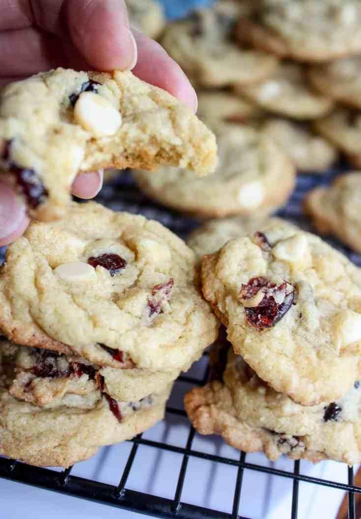 White Chocolate Cranberry Cookies - Gluten Free