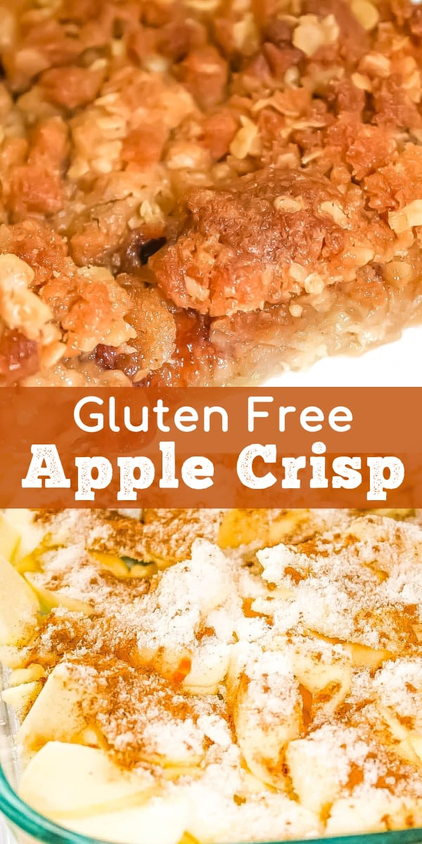 Gluten Free Apple Crisp is a simple and delicious fall dessert recipe. This easy recipe uses gluten free quick oats and Bob's Red Mill gluten free flour.