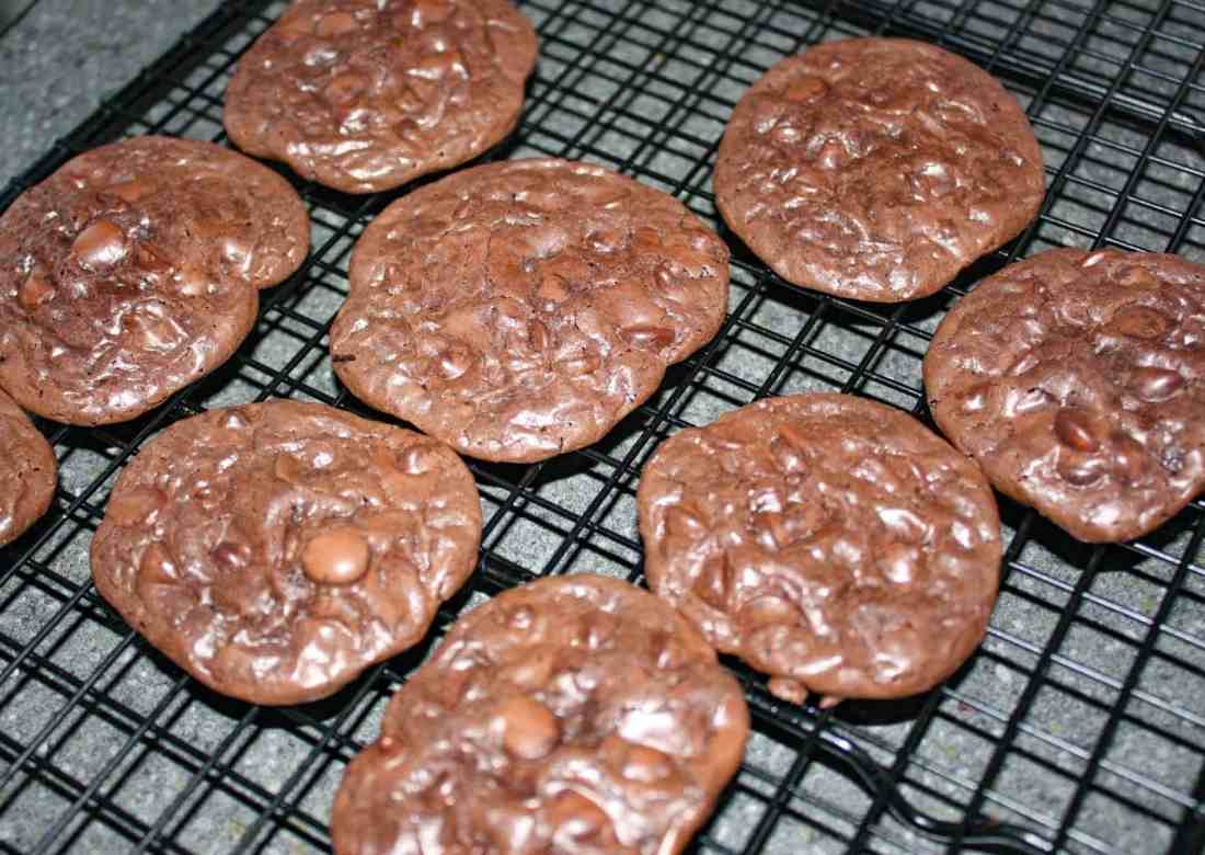 For all of us that need to avoid gluten, Flourless Chocolate Cookies are a decadent treat, with their triple hit of chocolate, chewy goodness.