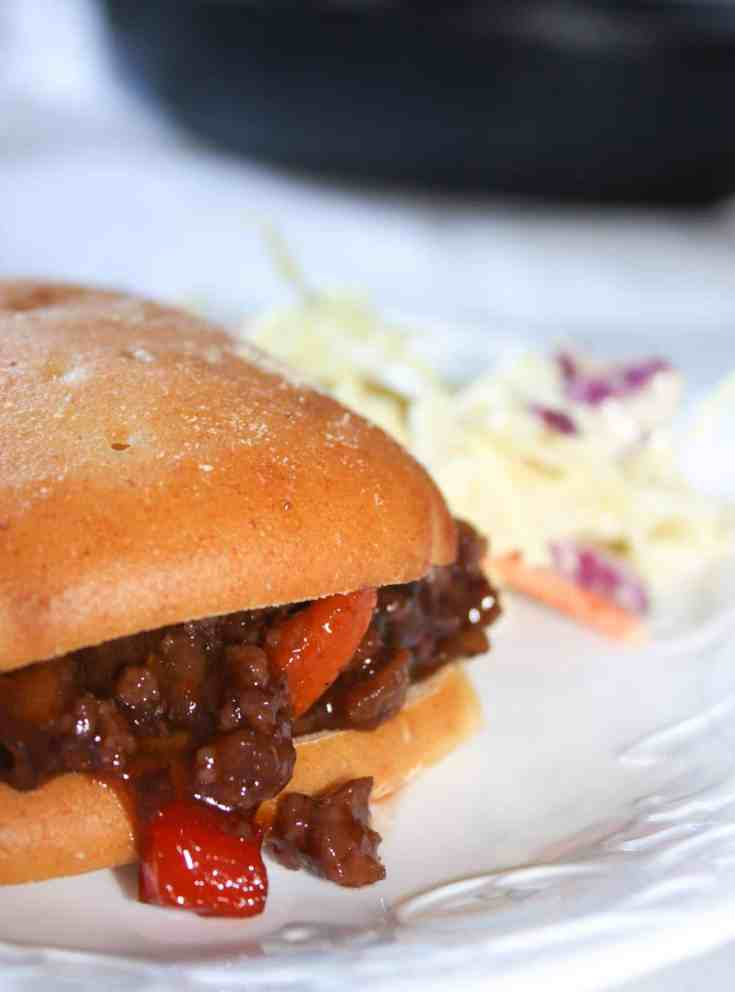 Sloppy Joes are a family favourite. This time I mixed it up a bit by adding in some extras. This skillet recipe is loaded with ground beef, vegetables and flavours. Served on a toasted gluten free bun this well known dinner choice really hit the spot!