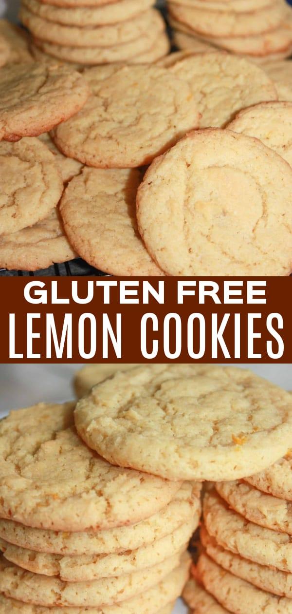 Gluten Free Lemon Cookies are a tasty dessert recipe made with lemon zest, lemon juice and Bob's Red Mill gluten free flour.