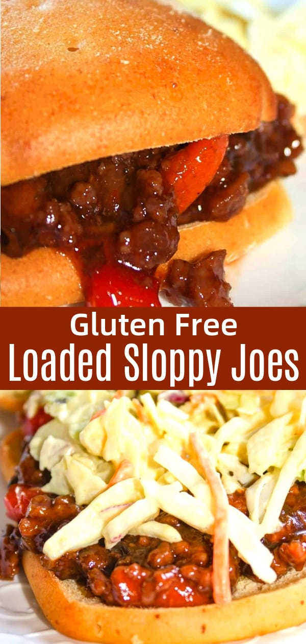 Sloppy Joes are a family favourite. This time I mixed it up a bit by adding in some extras. This skillet recipe is loaded with ground beef, vegetables and flavour. Served on a toasted gluten free bun this well known dinner choice really hit the spot!