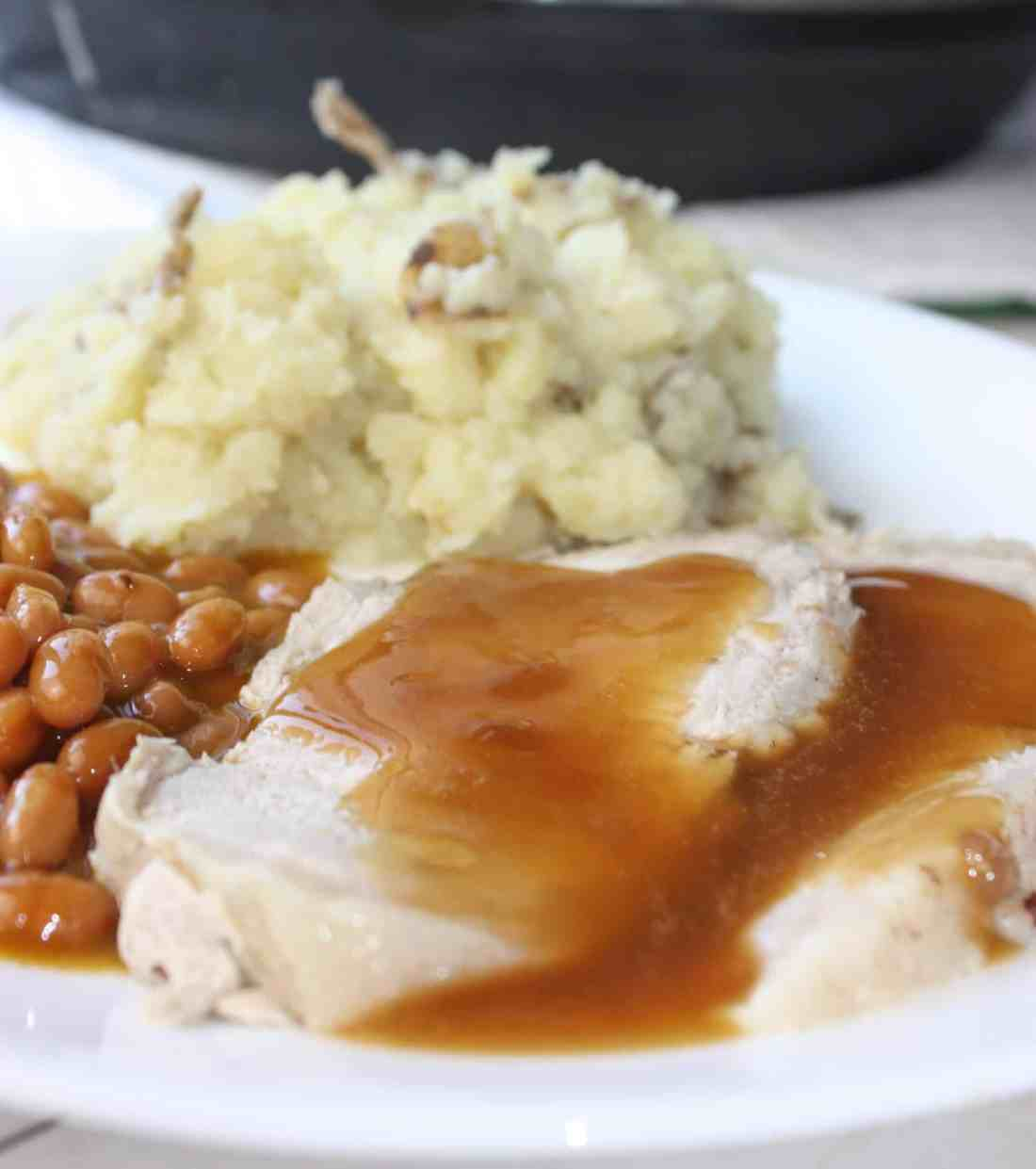Instant Pot Pork Loin Roast with Garlic Mashed Potatoes is another easy pressure cooker recipe. This roast, flavoured with fall spices, turned out so moist and delicious.