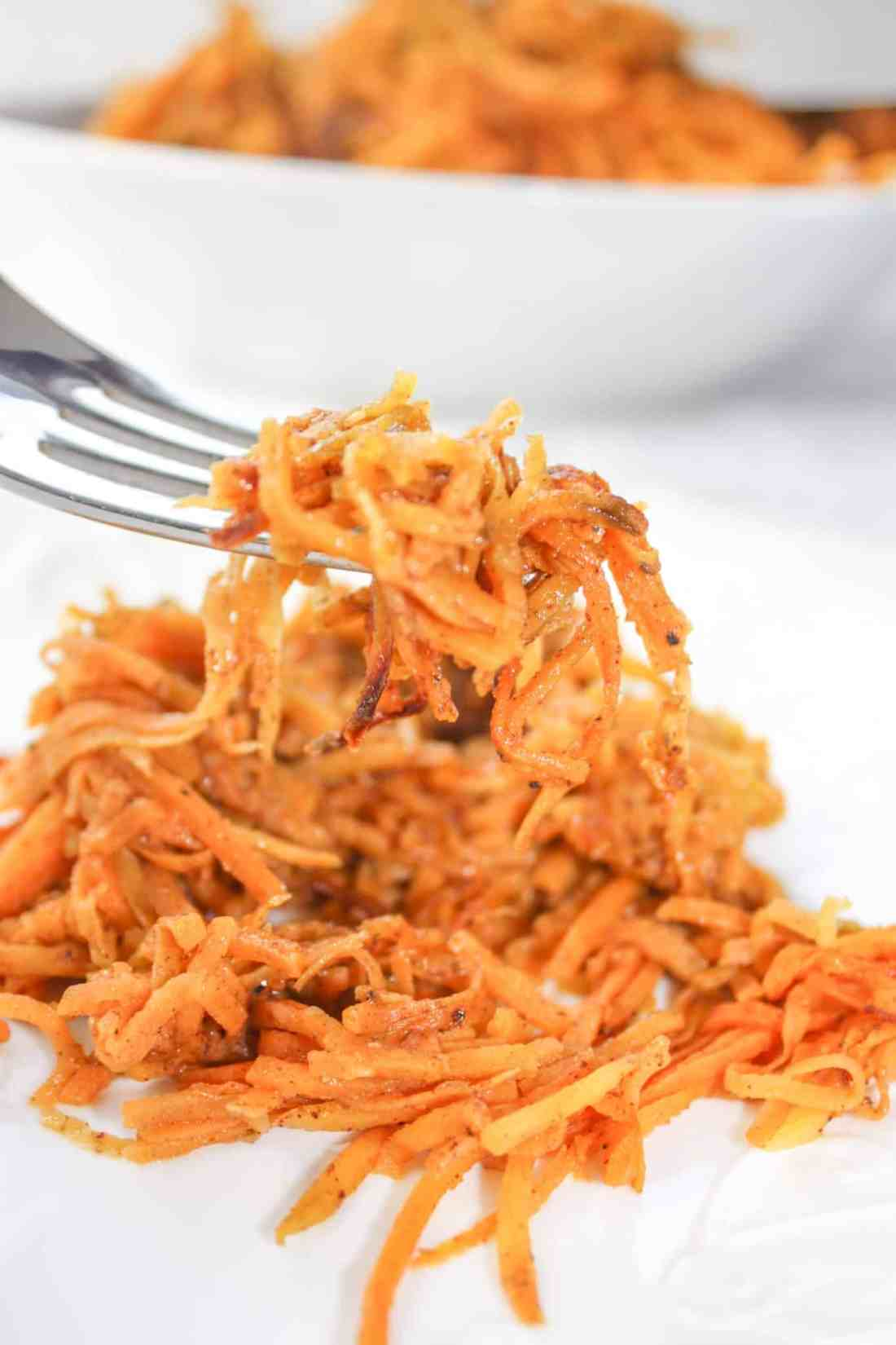 Hot Sweet Potato Slaw is a flavourful side dish that will complement any meal.  Add it to your Thanksgiving menu or it is easy enough to prepare any night of the week.