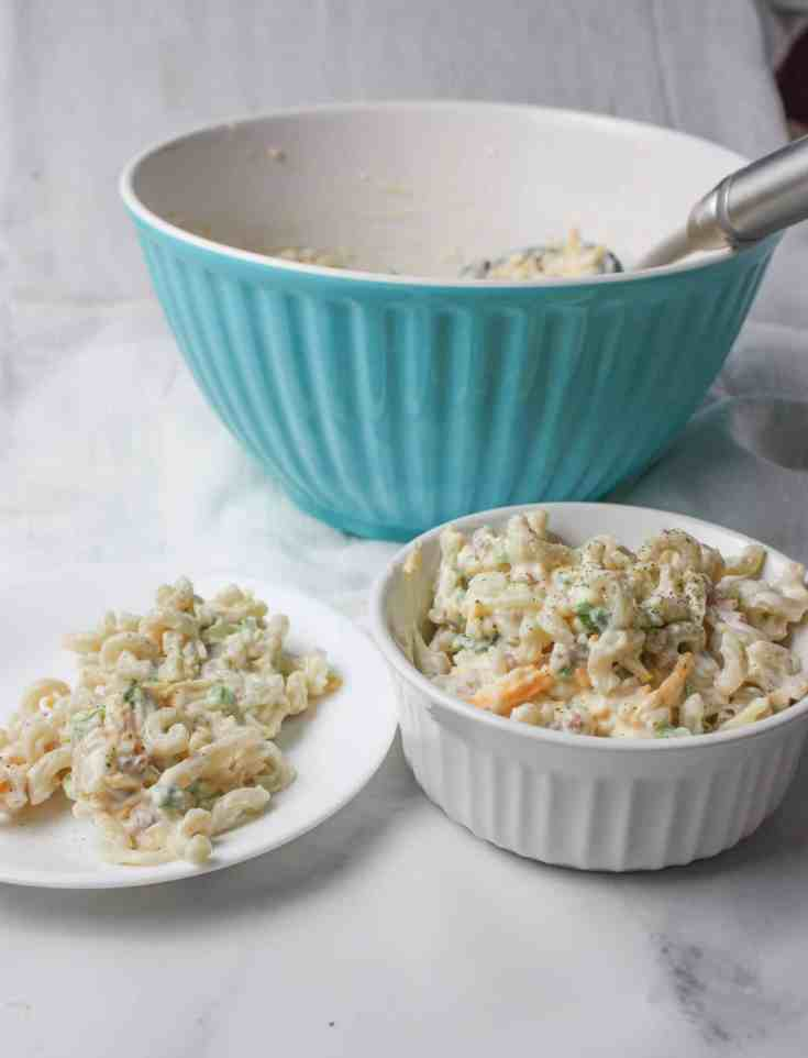 Million Dollar Pasta Salad takes a popular dip recipe and turns it into a delicious, gluten free pasta salad.