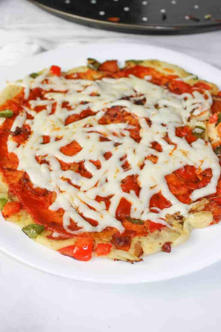 Craving pizza but don't have ingredients for pizza dough?  This may be the right recipe for you!  Pizza crepes create nice light gluten free pizzas that can be made easily and quickly.