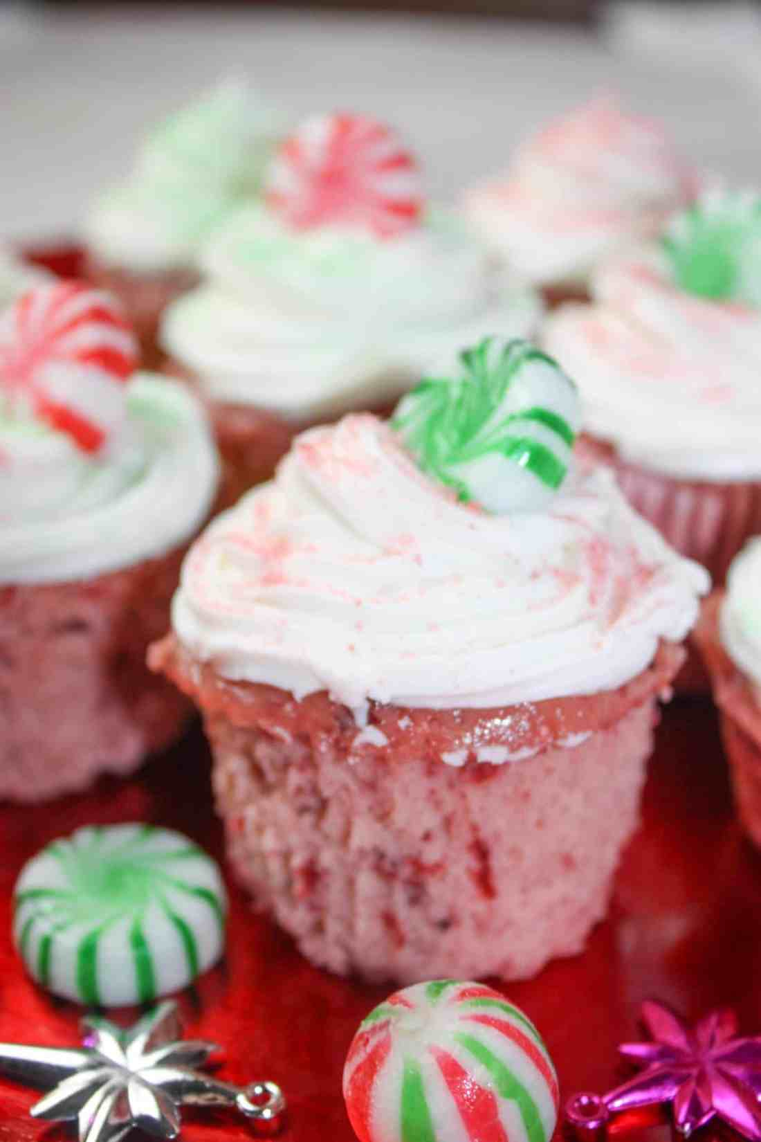 Microwave Cherry Cranberry Cupcakes are a quick and easy gluten free dessert.  This moist, colourful cake decorated to suit the season is a great addition to any holiday dessert tray.
