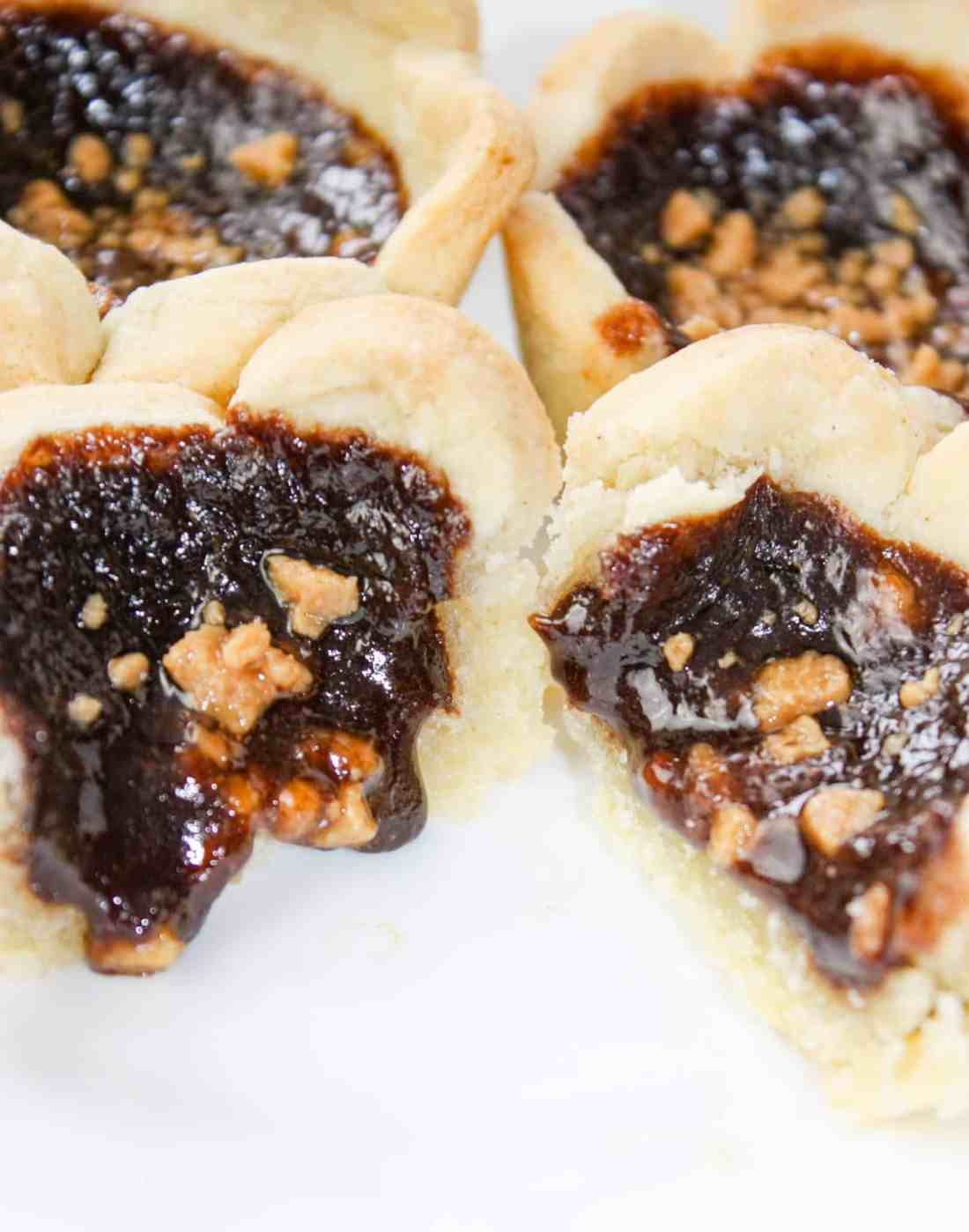 Skor Butter Tarts are a tasty variation of regular butter tarts.  This gluten free dessert pastry will be a hit with young and old alike.