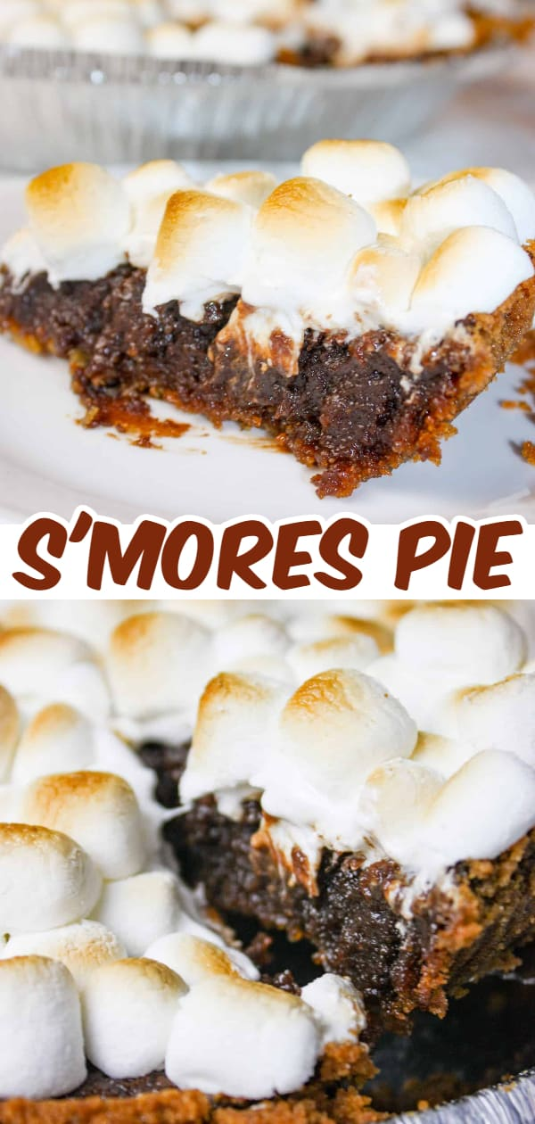Smore's Pie is an easy dessert recipe with a creamy chocolate filling topped with melted marshmallows, all sitting on a graham crust makes this a decadent treat to indulge in any time of the year.