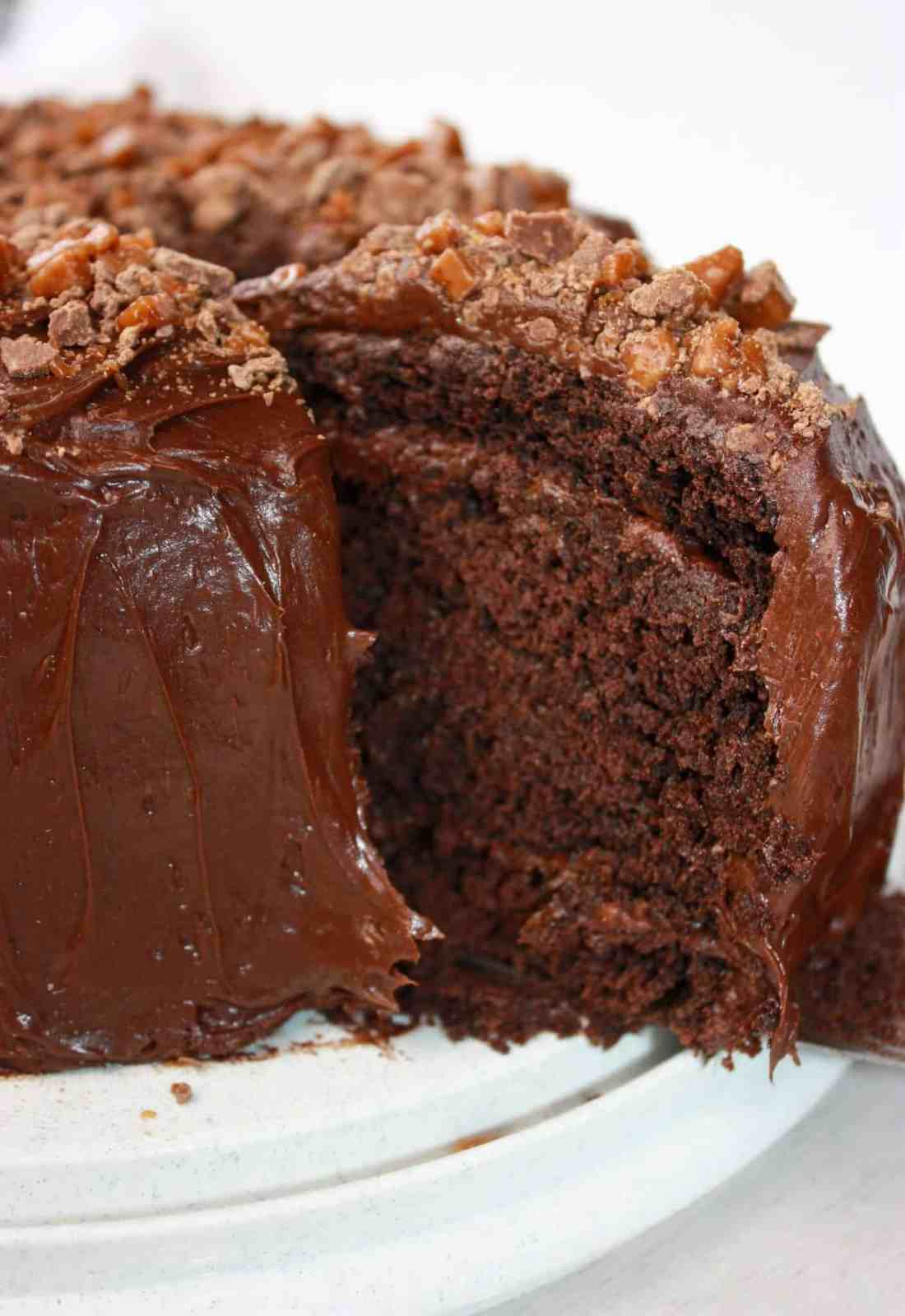 Gluten Free Chocolate Layer Cake is a delicious dessert that is easy to make. This moist and light layer cake can easily be decorated to suit any occasion.