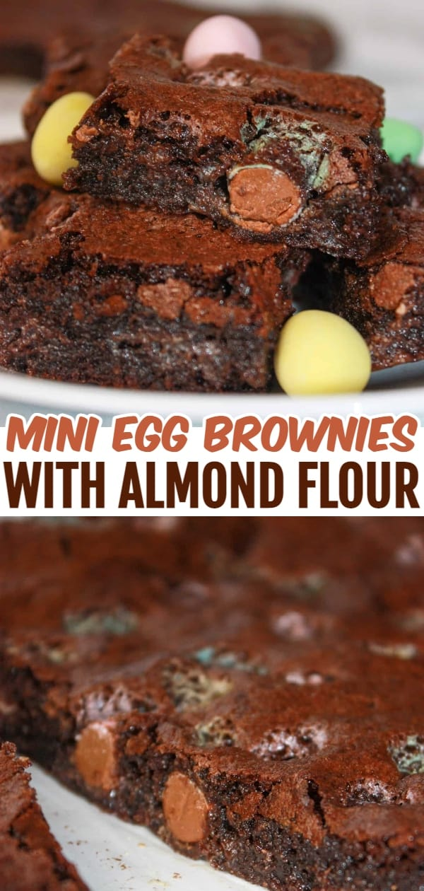 Whether you add Mini Egg Brownies with Almond Flour to your Easter dessert tray, or bake them a few weeks later to use up Easter candy, you will enjoy their gooey, chocolate decadence.