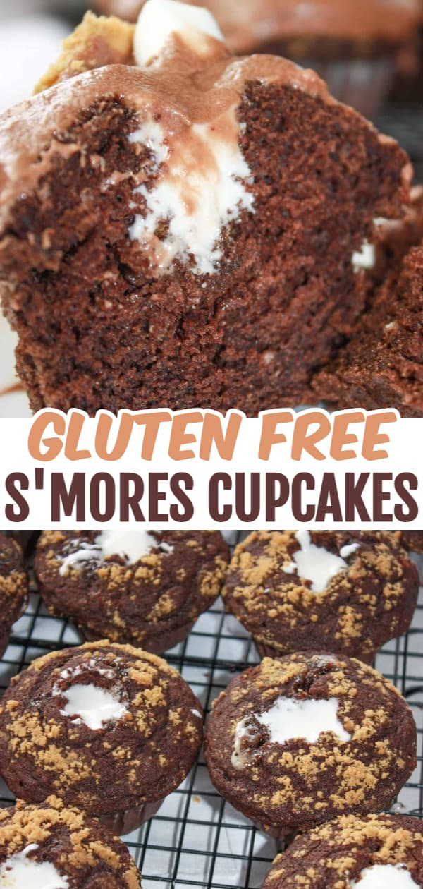S'mores Cupcakes are a delightful dessert treat that will be enjoyed by young and old alike. These gluten free cupcakes will bring back memories of campfire gatherings any time of the year.