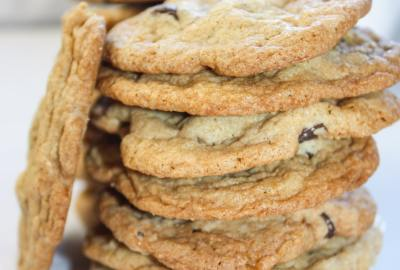 S'mores cookies are thinner, chewy cookies loaded with graham crumbs, mini marshmallows and chocolate chips.