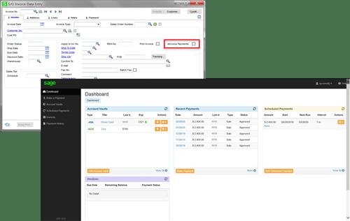 Sage 100cloud 2020 eInvoicing screenshots