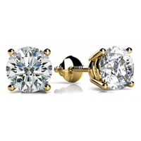 Forever Solitaire Diamond Earring Studs In 4 Prong set