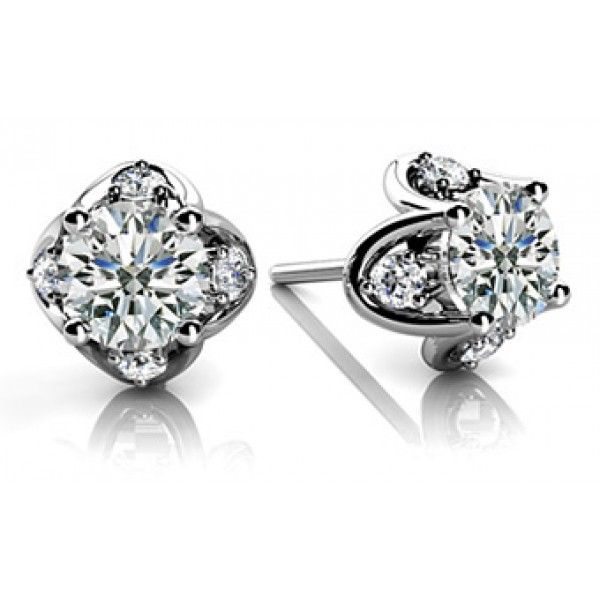 Solitare Diamond Earrings Beautiful Solitaire Stud