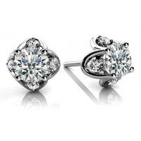 Solitare Diamond Earrings Beautiful Solitaire Stud ...