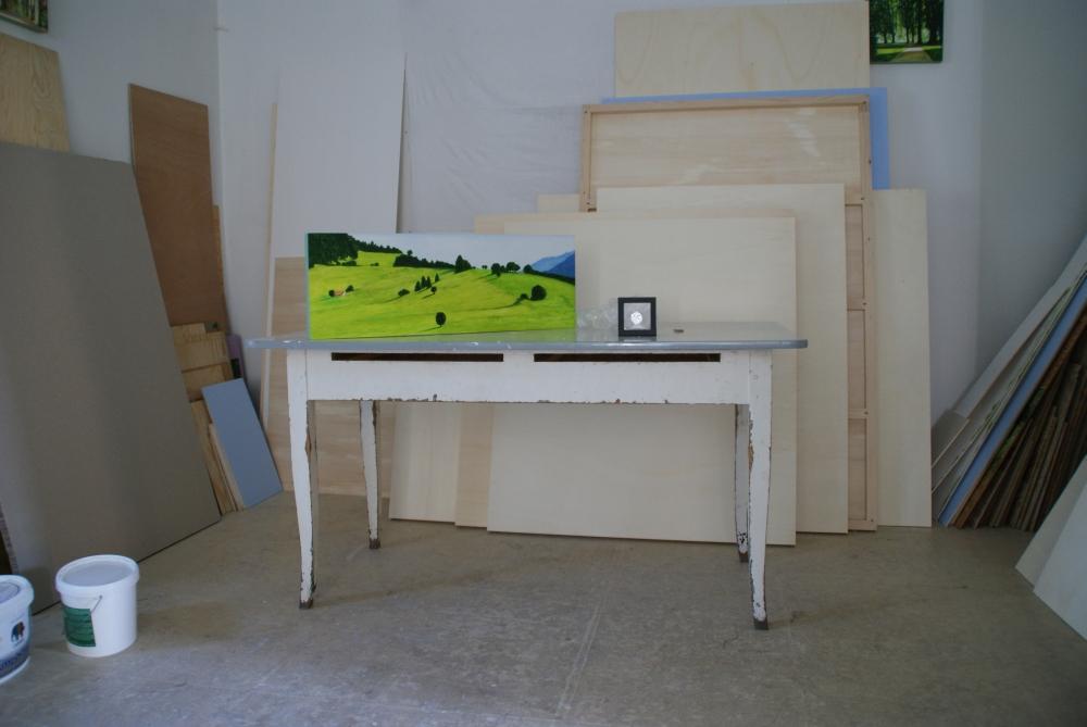 Eine weitere Impression aus dem Atelier in Kißlegg