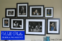How to make a wall photo arrangement