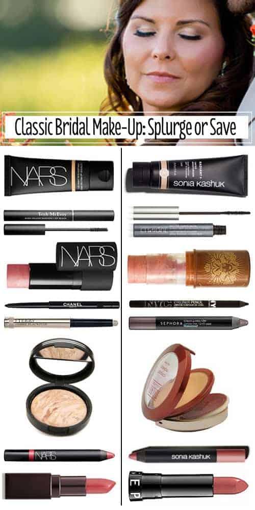 Classic Bridal Make-Up: Splurge or Save #makeup #dupes #save #splurge
