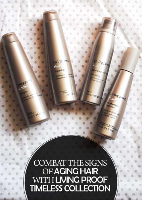 Combat the Signs of Aging Hair with Living Proof Timeless Collection (Available only at Ulta Beauty) #ad #AgeWisely #IC