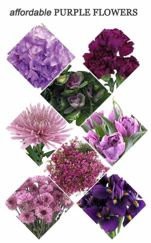 Affordable Purple Flowers for Your Wedding #flowers #bouquet #centerpieces #ceremony #purple #reception #wedding