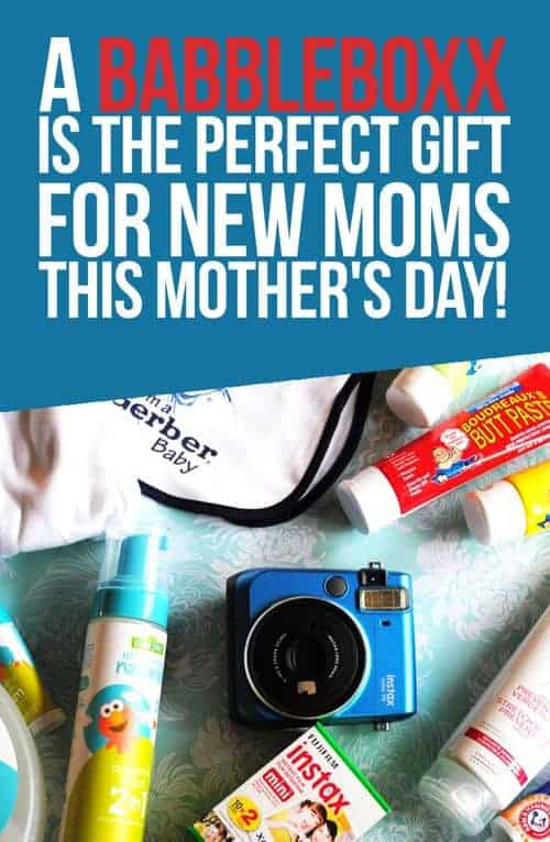 A BabbleBoxx Is The Perfect Gift For New Moms This Mother's Day! #Babbleboxx #MyInstax, #FujiMoms #ButtPaste #GerberChildrenswear