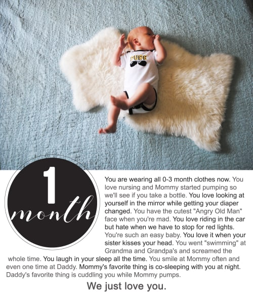 Finnegan's First Year Photo Project : One Month