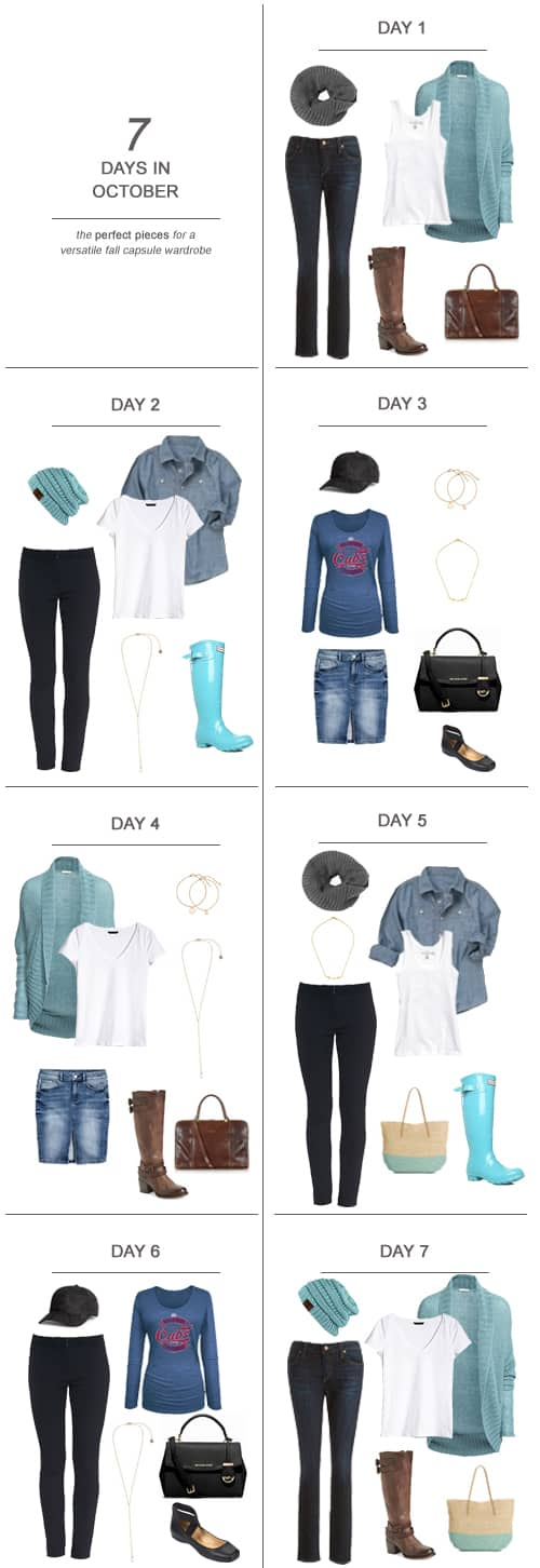 7 Days in October : The Perfect Pieces for a Versatile Fall Capsule Wardrobe
