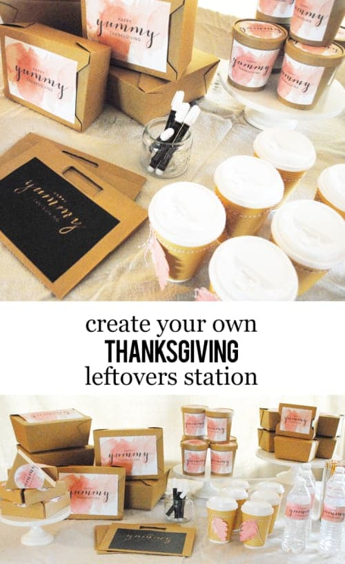 Create Your Own Thanksgiving Leftovers Station