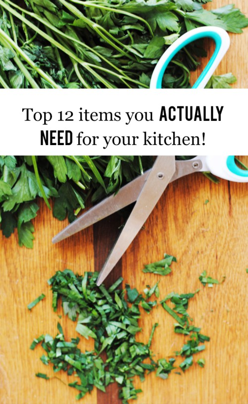 The Top 12 Items You Actually Need For Your Kitchen #cooking #recipe #weddingregistry #food #kitchen
