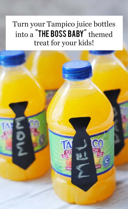 Turn Your Tampico Juice Bottles Into A The Baby Boss Themed Treat For Your Kids #ad #TampicoBossBaby #TampicoRaiseABoss #TampicoJuice