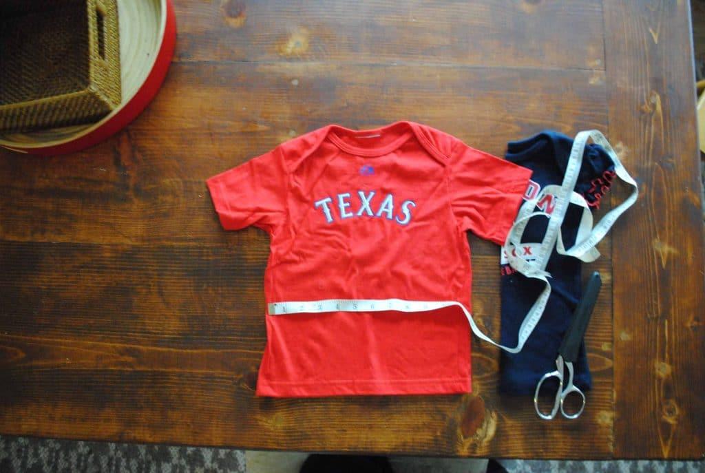 DIY: Make a Dual Team T-shirt for your Littlest Baseball Fan