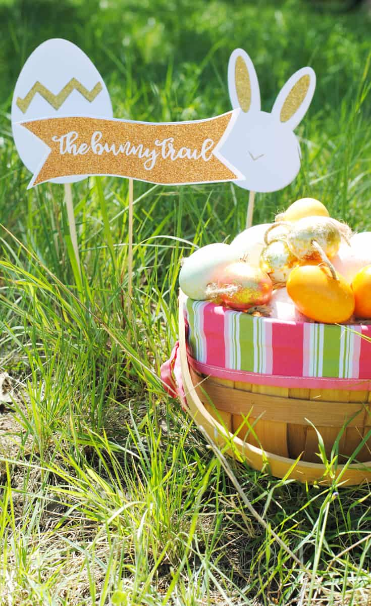 Hop Down the Bunny Trail this Easter with these Cute Signs that I Made with my Cricut #ad
