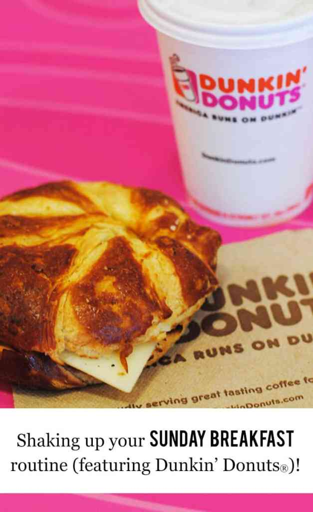 Shaking up your Sunday breakfast routine featuring Dunkin' Donuts #ad #DunkinDonuts #breakfast #breakfastwhenever