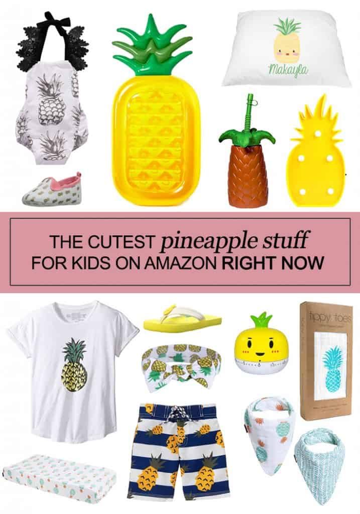 The Cutest Pineapple Stuff for Kids on Amazon Right Now