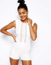 River Island Structured Playsuit