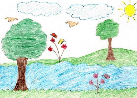 رسومات رسم سهل للطبيعة