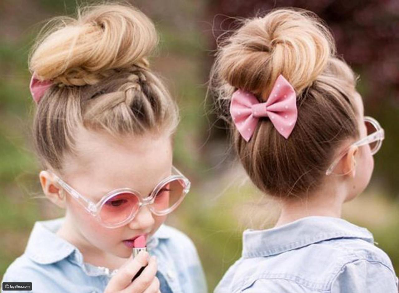 قصات شعر بنات صغار قصير جدا