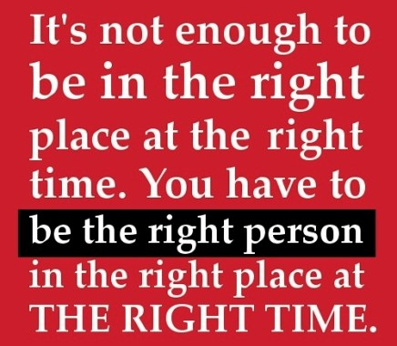 right person right time
