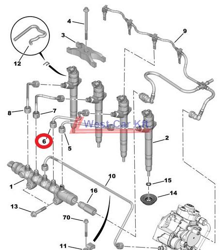 Üzemanyagcső Citroen Jumper Peugeot Boxer 2.2HDI BOX 06- 2 I