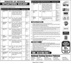 Ministry of Defence NTS Test Result 2014 MOD Staff Jobs Test Result 2014 Online Announced