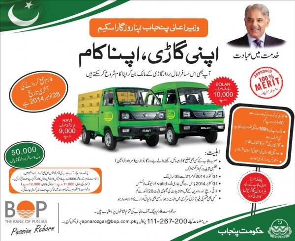 CM Punjab Apna Rozgar Scheme Draw Result Car Vehicle Distribution Eligibility Application Form Qurandazi of Apni Gari
