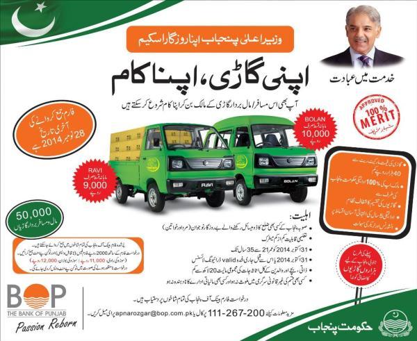 CM Punjab Apna Rozgar Scheme Draw Result Car Vehicle Distribution Eligibility Application Form Qurandazi of Apni Gari