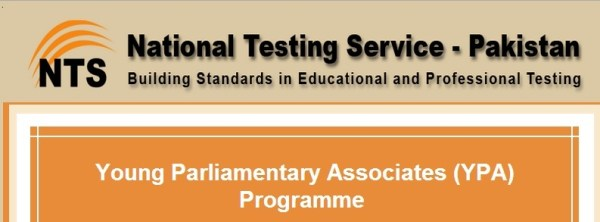 Young Parliamentary Association YPA Program Jobs 2016 NTS Test Centers Roll Number Slips Download Selected Candidates List