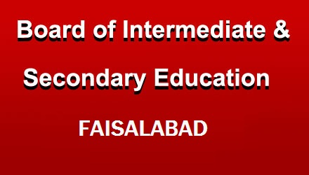 Bise Faisalabad Board 11th 12th Class Sample Papers Past Papers and Model Papers bisefsd-edu