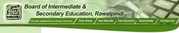 PEC Rawalpindi Board 8th Class Date Sheet 2017 Punjab Examination Commission