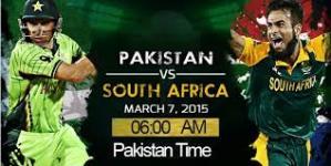 Pakistan vs South Africa 2015 Match Live Score ICC Cricket World Cup