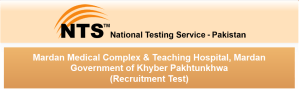 Mardan Medical Complex Teaching Hospital, MMC Jobs 2015 NTS Test Application Form Eligibility Criteria