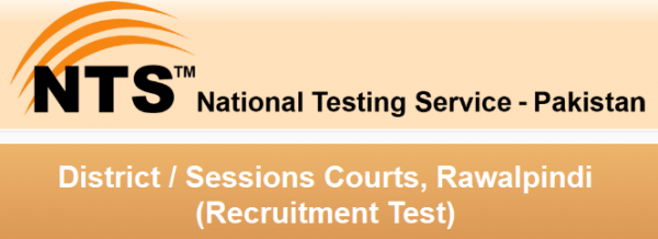 District / Sessions Courts Rawalpindi Jobs 2015 NTS Test Application Form Download Selected Candidates List Roll Number Slips